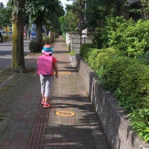 徒歩登校の道のり