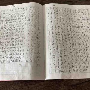 3歳の天才息子のノートが凄いことになってた〜!ママも頑張るぞ。