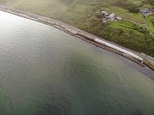 2021年7月10日仕事がてらに、午前中限定釣行、キス釣行in淡路島明神の小場のサーフと都志港横のサーフ