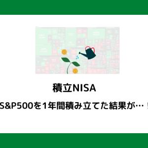 【積立NISA】 S&P500を1年間積み立てた結果が恐ろしい…!