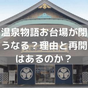 大江戸温泉物語お台場が閉館!跡地はどうなる?理由と再開発計画はあるのか?