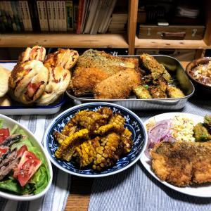 秋鮭フライのお夕食