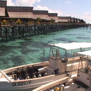 水上ダイブリゾートからシパダン島①ダイビング