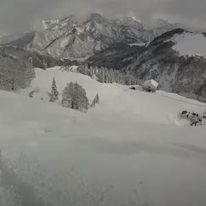 冬の日常JR SKISKI ガーラ湯沢「南未圧雪パウダースノー・インフルエンザ発症滑走」