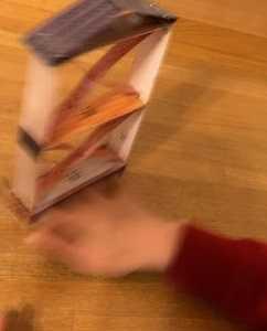 地震に関する学習教材 揺れを体験する紙工作の家(紙ぶるる)