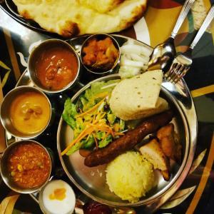 インド料理ランチと本日のお弁当