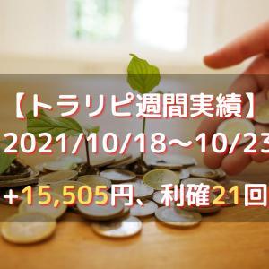 【トラリピ】2021年10月18日週(+15505円)
