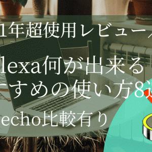 【1年超使用レビュー】Alexa何が出来る?おすすめの使い方8選!【echo比較有り】