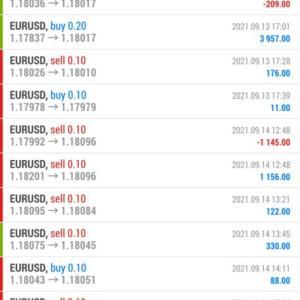 【FX自動売買結果報告】9月13日~9月17日と共有口座開始後の全合計。