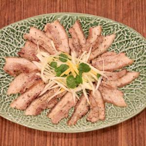 柚子ミントねぎの炙り豚巻きの作り方【ミント大量活用レシピ】