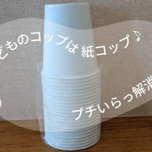 子どものコップを「紙コップ」にしたら家事のプチストレスから解放された!!