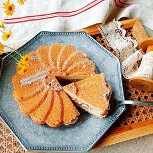 マルグリット型で卵白パウンドケーキ