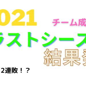 2021年シーズン結果発表(チーム成績編)