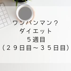 【ワンパンマン?ダイエット】5週目(29日目~35日目)【マイナス1.1kg】