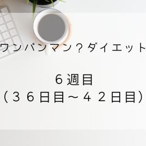【ワンパンマン?ダイエット】6週目(36日目~42日目)【マイナス0.6kg】