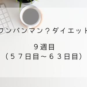 【ワンパンマン?ダイエット】9週目(57日目~63日目)【マイナス0.4kg】