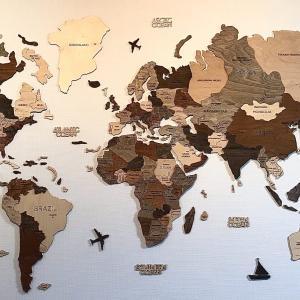 【全世界で大人気】ENJOY THE WOOD|あらゆる都市の立体感あるステキな壁掛け木製地図💛