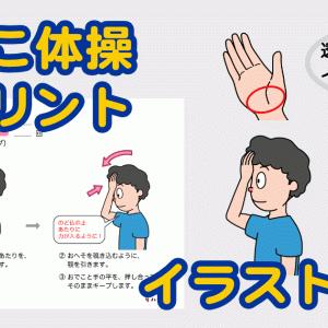 【ST作成】嚥下おでこ体操のプリント・イラスト素材の無料ダウンロード素材