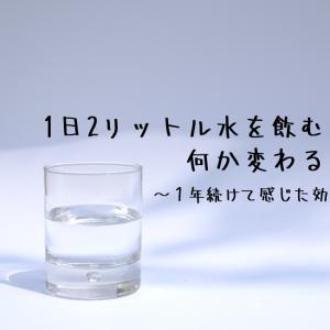 【水1日2L】1日2リットル水を飲むと何か変わる?1年続けて感じた効果