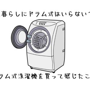一人暮らしにドラム式はいらない?ドラム式洗濯乾燥機を買って感じたこと