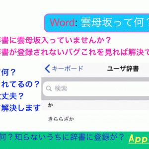 iPhoneで雲母坂(きららざか)が出る時の解決方法(ユーザー辞書が有効にならない・追加できない)