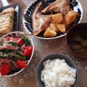 コストコ ブリかま煮付け 晩御飯