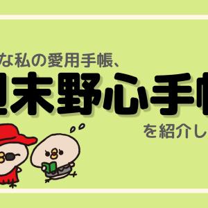 気まま日記のススメ【週末野心手帳はいいぞ!】