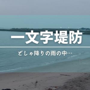 【阿字ヶ浦一文字堤防】どしゃ降りの雨での釣り