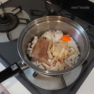 にょろの宿題ー野菜を煮る。