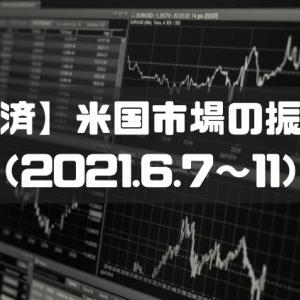 【経済トレンド】米国株市場の振返り(2021.6.7〜11)