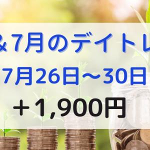 7月のデイトレード公開【7月26日~30日の収益】+1,900円