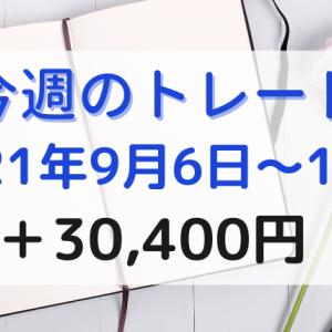 今週のデイトレード【9月6日~9月10日の収益】+30,400円