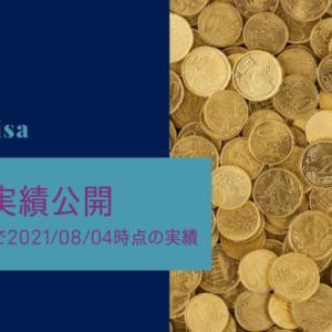 【楽天証券つみたてnisa】初めてから1年4ヶ月、2021年8月3日時点の実績公開。
