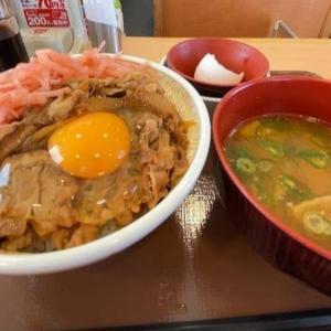 朝から「ガッツリ」行きたい日に嬉しい…すき家の牛丼モーニング