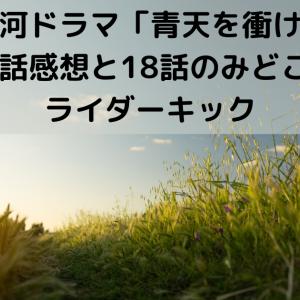大河ドラマ「青天を衝け」第17話感想と18話のみどころとライダーキック【大河ドラマ】