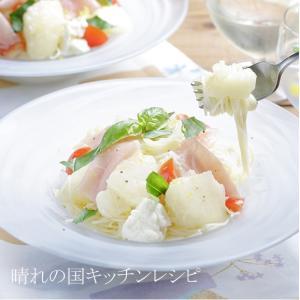 「白桃の冷製パスタ」晴れの国キッチンレシピ & 白桃とブランデー