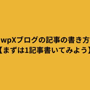wpXブログの記事の書き方【まずは1記事書いてみよう】