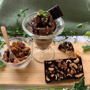 『チョコ祭り』ナッツバー・ビスコッティ・プディング・グラノーラ全部チョコ♪テンパリング頑張ります