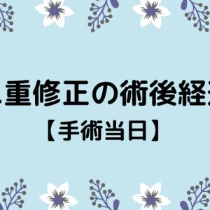 切開修正の術後経過【手術当日】
