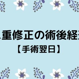 切開修正の術後経過【2日目】