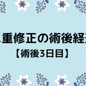 切開修正の術後経過【3日目】