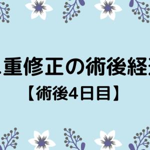 切開修正の術後経過【4日目】