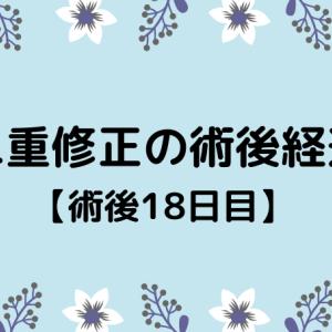 切開修正の術後経過【18日目】