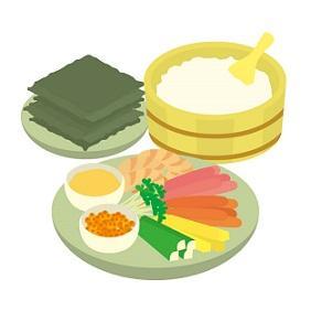 お寿司 および 大晦日模様