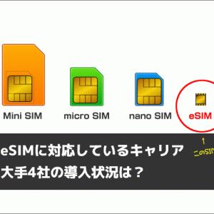 eSIMに対応しているキャリアはどこ?大手4社の導入状況をチェックしよう!