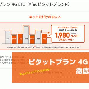 ピタットプラン 4G LTE(新auピタットプランN)解説!料金や他プランとの違い【2021年版】