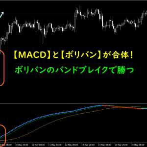 【無料インジ】MACDとボリバンが合体した順張り手法