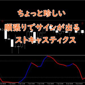 【無料インジ】エントリーサインを表示する順張り系のストキャス