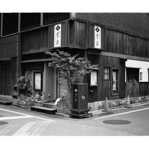 Symmetrical Japanese restaurant in Ginza,Tokyo,Japan