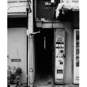 A very narrow passage between buildings in Tsukiji,Tokyo,Japan